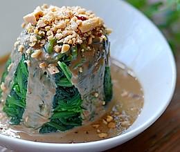 麻酱菠菜的做法