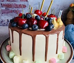 #花10分钟,做一道菜!#生日淋面蛋糕的做法