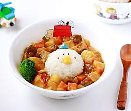 蒜香番茄卡通儿童咖喱饭#幸福的味道#的做法