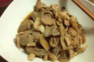 辣酱炒蘑菇