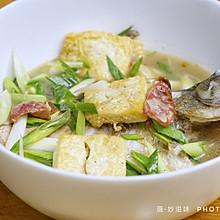 鱼与香肠的约会~香肠豆腐炖鱼~