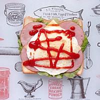 火腿芝士蛋三明治#百吉福食尚达人#的做法图解8