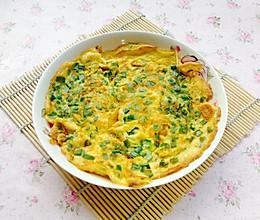美颜减肥食谱--青椒煎鸡蛋的做法