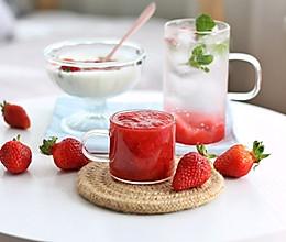 #美食视频挑战赛# 香甜草莓酱和草莓气泡水的做法