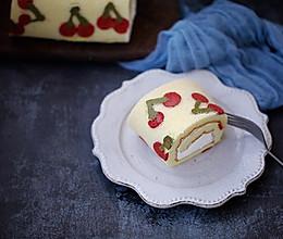 樱桃彩绘蛋糕卷的做法