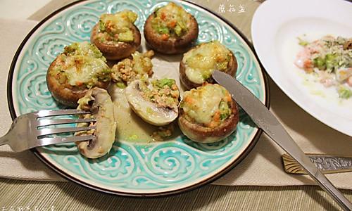 牛油果三文鱼蘑菇盏的做法
