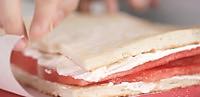玫瑰草莓西瓜蛋糕,高颜值的美味!的做法图解9