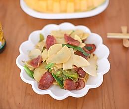 #春日时令,美味尝鲜#冬笋炒腊肉的做法