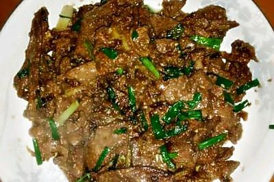 爆炒猪肝(味道超级嫩)