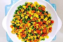 肉丁炒玉米粒豌豆胡萝卜的做法