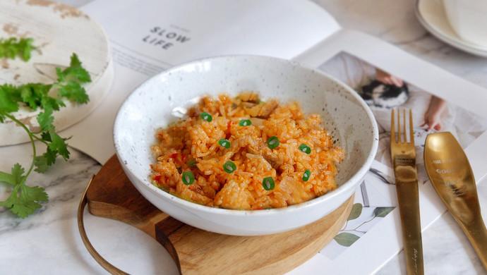 辣白菜五花炒饭