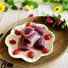 #精品菜谱挑战赛#辅食计划+水晶紫薯卷