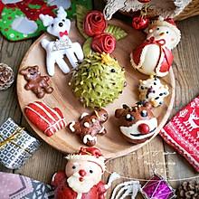 圣诞卡通馒头——能吃能玩,和家中的小朋友一起体验动手的乐趣