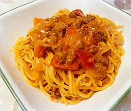大人和小朋友都超爱的快手番茄意大利肉酱面的做法