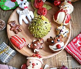 圣诞卡通馒头——能吃能玩,和家中的小朋友一起体验动手的乐趣的做法