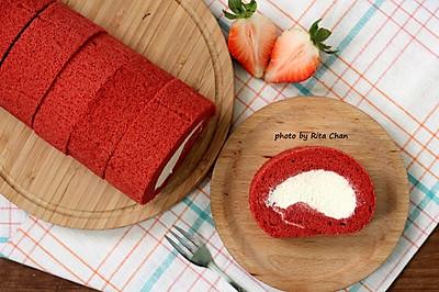 红丝绒蛋糕卷#约会MOF#