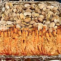 #一人一道拿手菜# 蒜蓉烤花蛤虾的做法图解10