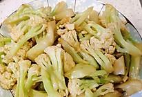 炒菜花的做法