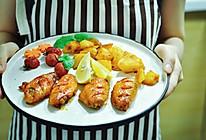 烤鸡翅&烤土豆 拼盘的做法