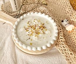 #快手又营养,我家的冬日必备菜品#暖身神器-蜂蜜牛奶桂花粥的做法
