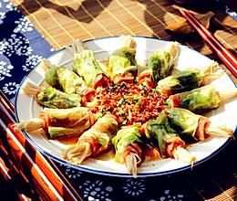 培根包菜卷的做法