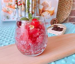 #轻饮蔓生活#夏日特饮蔓越莓沙冰的做法