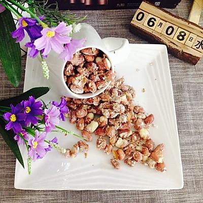 简单好吃的休闲零食--糖霜花生米