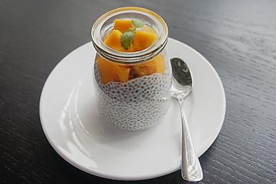 芒果奇亚籽椰奶布丁