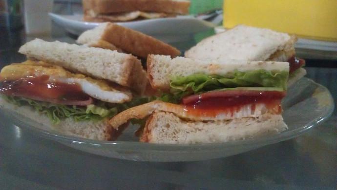 煎蛋火腿三明治(3人份)