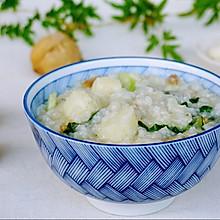 营养肉丝青菜山药粥