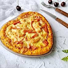 #憋在家里吃什么#情人节美食~海鲜火腿肠披萨