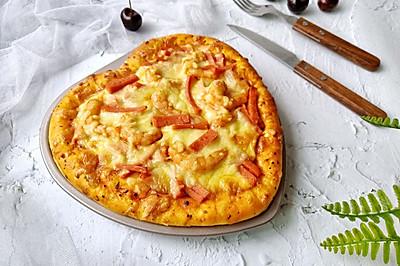 情人节美食~海鲜火腿肠披萨