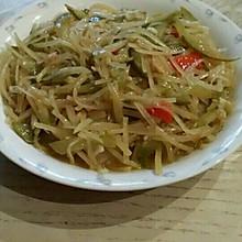 土豆丝炒酸黄瓜