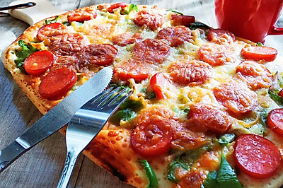 超简单的【懒人披萨】