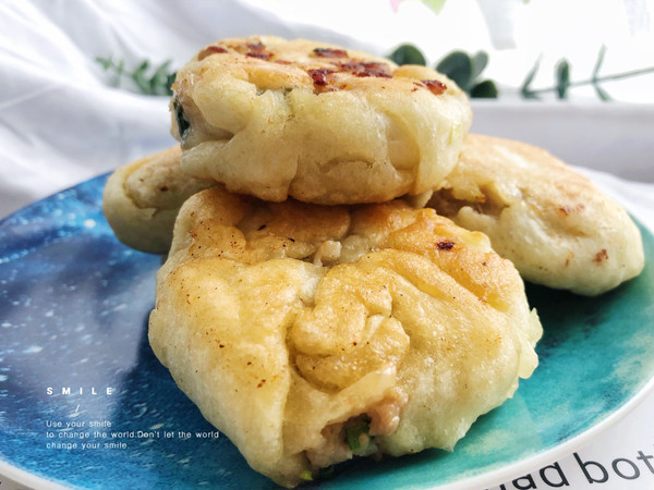葱香肉末酥饼的做法