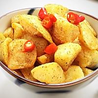 #花10分钟,做一道菜!#香辣椒香薯角的做法图解10
