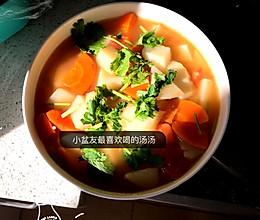 西红柿土豆胡萝卜汤的做法
