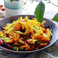 五花肉干煸有机花菜-在家做出饭店的味道#一机多能 一席饪选#的做法图解22