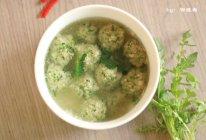 荠菜丸子汤的做法