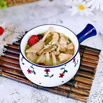 蟹味菇鸡汤