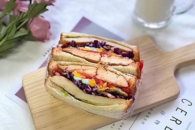 健康鸡胸三明治