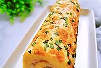 香葱肉松蛋卷的做法