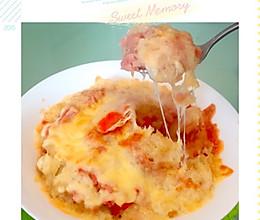 火腿芝士焗土豆的做法
