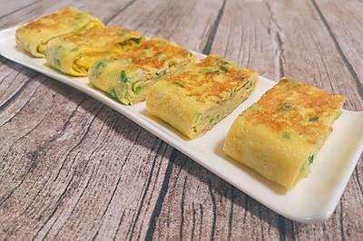 软嫩可口的快手早餐 香葱厚蛋烧
