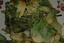锅包薄荷,锅包香椿的做法
