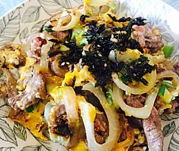 滑蛋牛肉饭的做法