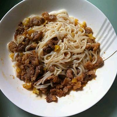 泡椒牛肉米线