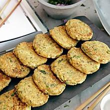 香煎花生豆腐饼#急速早餐#