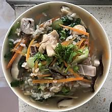 香菇滑鸡粥