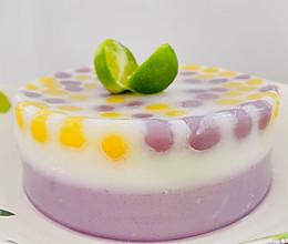 #中秋团圆食味#芋圆椰汁紫薯糕的做法